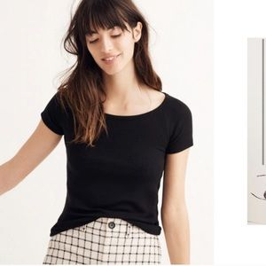 Madewell Black Canal Ribbed Tee